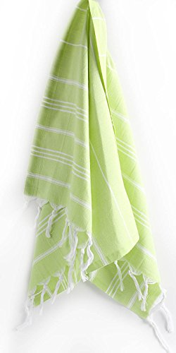 "Hand Face Turkish Towel Pestemal 23 X 36"" Peshtemal Fouta Kitchen Baby Care By Cacala ""Pistachio Green"""