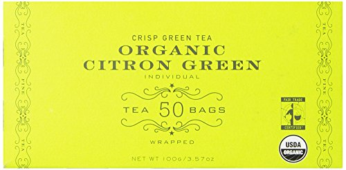 Harney & Sons Organic Citron Green Tea, 50 Tea Bags
