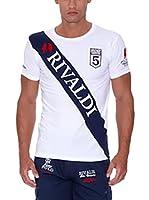 Rivaldi Camiseta Manga Corta Mutini (Blanco / Azul Marino)