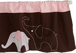 Pink Elephant Window Valance