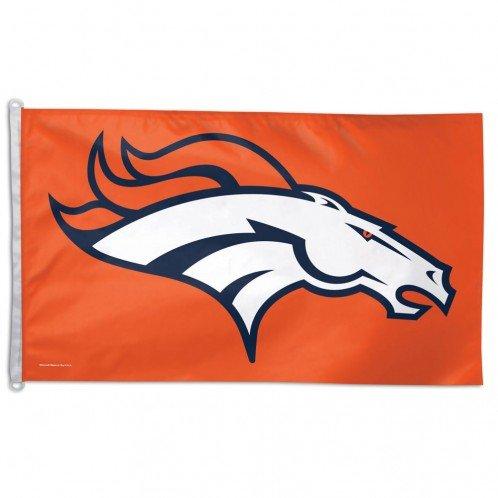 NFL Denver Broncos Flag, 3 x 5-Feet