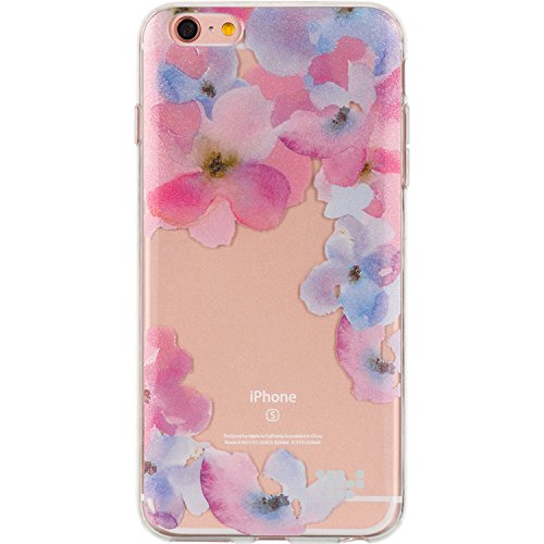 Apple iPhone 6 / 6s TPU Watercolor IMD Case (Be Enchanted) + Includes VG Brand High Quality Earbuds