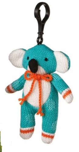 Genuine Monkeez Teal Koala Clip Animal Plush Yarn - 1