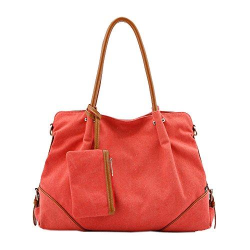 Kaylena 防水帆布バッグ 多機能 女性用 3way ハンドバッグ 3点セット ピンク