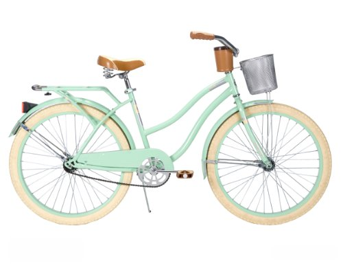 New Huffy Women's Deluxe Cruiser Bike, Mint Green, 26-Inch/Medium