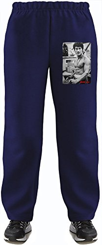 Bruce Lee Super Soft Kids Lightweight Jog Pants by True Fans Apparel - 80% Organic, Hypoallergenic Cotton & 20% Polyester - Casual & Sports Wear - Perfect Present 5-6 years