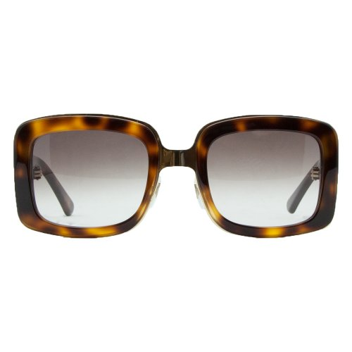 Alexander McQueenAlexander McQueen AMQ 4106/S TAV Havana Oversized Rectangular Sunglasses