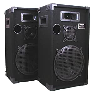 "Podium Pro 1200C Studio Speakers 12"" Three Way Pro Audio Monitor Pair for PA DJ Home or Karaoke images"