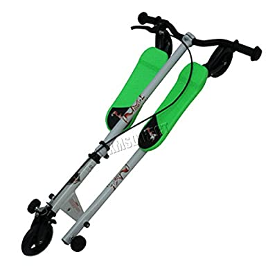 Buy FoxHunter Green Mini Tri Push Scooter Swing Motion Trike Slider Striker Drifter for Kids