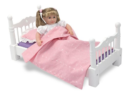 Melissa & Doug Deluxe Wooden  Doll Furniture - Bed Amazon.com