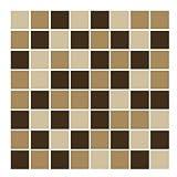 FoLIESEN – Fliesenaufkleber Mosaik – beige-braun – 15cm x 15cm – 172 Stück