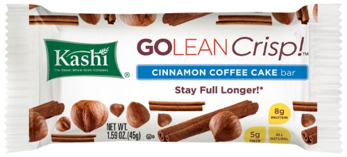Kashi GOLEAN Bar Crunchy! Cinnamon Coffee Cake, 12 - 1.59-Ounce Bars