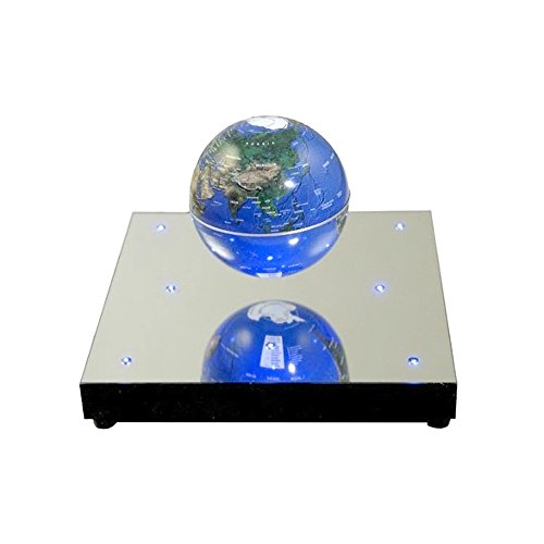 Display Promotion Anti Gravity Levitating Geographic Globe Magnetic Floating World Map With 8 Leds Table Desk Home Office Decoration