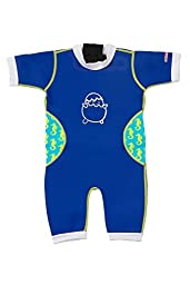 Baby Thermal Warmiebabes Swim Suit (18-30 Months, Navy Blue / Seahorse)