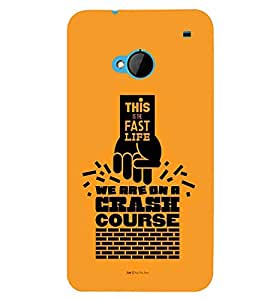 printtech Crash Course Back Case Cover for HTC One M7::HTC M7