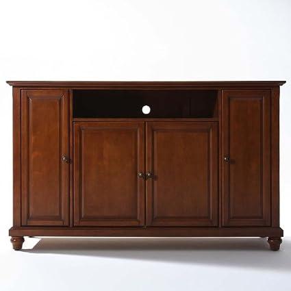 Crosley Furniture Cambridge 60-Inch TV Stand, Classic Cherry
