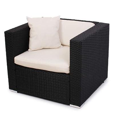 Modulares Poly-Rattan Sofa RomV ~ anthrazit, Sessel von Mendler auf Gartenmöbel von Du und Dein Garten