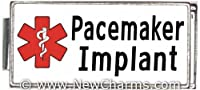 Pacemaker Implant White Medical Alert Italian Charm Bracelet Jewelry Link from New Charms