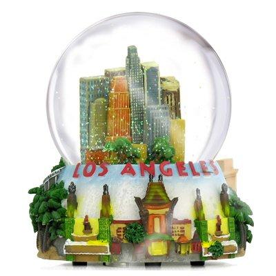 California Los Angeles Snow Globe Musical 5.5