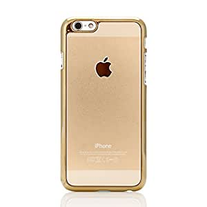 KUKRIE HARD METAL PROTECTIVE BACK COVER , VERY LIGHT WEIGHT.PREMIUM QUALITY DESIGNER PRINTED MATTE FINISH HARD CASE BACK COVER FOR APPLE I-PHONE 6, 6S (GOLD)
