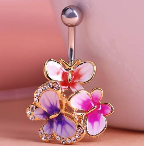 epoxy-enamel-esmalte-colares-butterflys-belly-button-rings-sexy-body-piercing-jewelry-bars-piercings