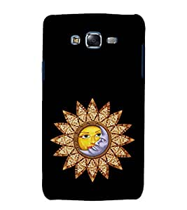Sun and Moon 3D Hard Polycarbonate Designer Back Case Cover for Samsung Galaxy J7 J700F (2015 OLD MODEL) :: Samsung Galaxy J7 Duos :: Samsung Galaxy J7 J700M J700H