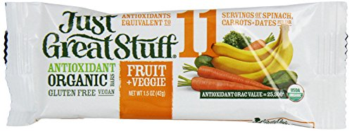 Betty Lou's Inc. Bar, Og, Fruit&Veggie, 1.50-Ounce (Pack of 12) (Organic Freeze Dried Carrots compare prices)
