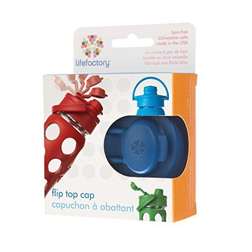 Lifefactory Flip Cap For 22Oz/16Oz/12Oz Glass Bottles, Midnight Blue