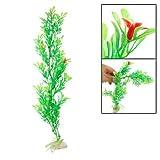 Fish Tank floral roja Hojas Verdes plástico plantas ornamentales
