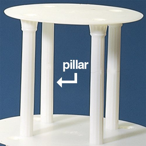 Of Wedding Cake Stand Pillar White 7 For Use With Cake Stand Plates