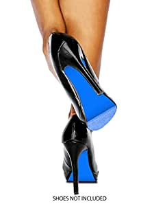 Colored Shoe Sole Kit - Slip Resistant Shoe Bottom Cover for Women's Heels (Azure Blue)