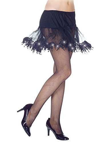 Womens Light Up Tulle Petticoat Tutu Costume Accessory in Black White or Red