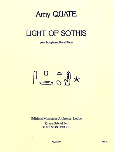 Light Of Sothis - Saxophone Mib et Piano