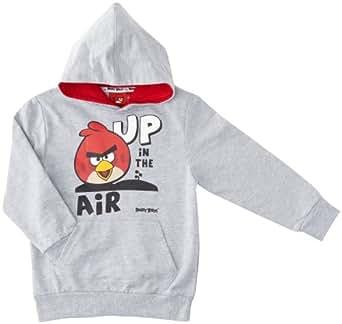 Angry birds - sweat-shirt à capuche - garçon - gris (lgm) - 12