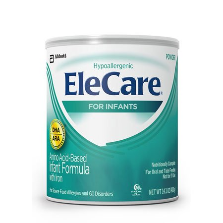 EleCare For Infants Unflavored Powder with DHA/ARA, 14.1OZ (Pack of 6)