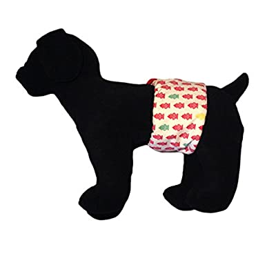 Barkerwear Male Dog Diaper - Fire Hydrant Washable Belly Band Male Wrap for Housebreaking, Male Marking and Incontinence