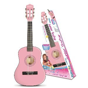 Music Alley 1/2 Size Junior Guitar Includes CD And Tutor Book – Pink