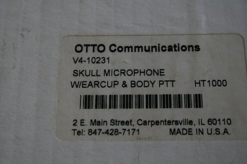 Otto Communications V4-10231 Skull Microphone With Earcup And Body Ptt