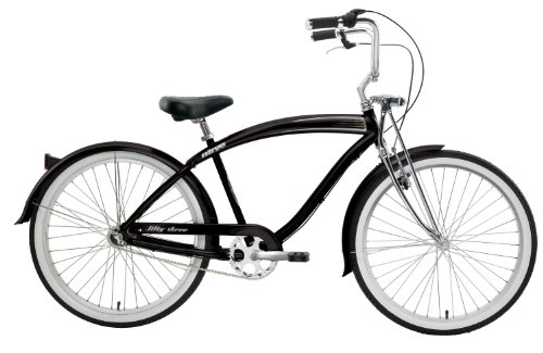 Nirve Fifty-Three Men's 3-Speed Cruiser Bike (Gloss Black)