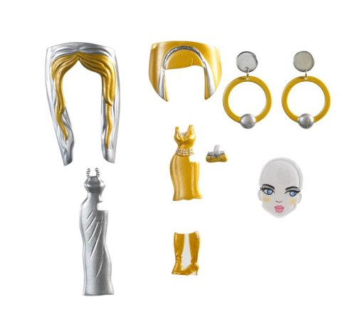 Barbie Girls Glam Gowns Pack - Gold and Silver
