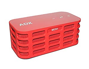 Audio Dynamix, MESH2 Stereo Rechargeable Bluetooth Speaker - Red- 12hrs playtime, 15 metre BT range , SD card reader. Now featuring new High Definition long throw speakers and Harmonic Bass Matrix.