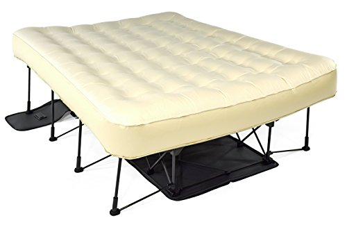 Ivation EZ-Bed (Twin) Air Mattress With Frame & Rolling Case, Self Inflatable, Blow Up Bed Auto Shut-Off, Comfortable Surface AirBed, Best for Guest, Travel, Vacation, Camping (Frame Air Mattress compare prices)