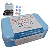 Stainless Steel Lunch-Box for Kids | Toddler Lunch Containers | Metal Bento Box Leakproof Compartments | Eco-Friendly | Best for Small Boys or Girls, Pre-School Kindergarten | BPA- Free | Blue (Color: Blue)