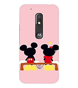 EPICCASE Mini & Mickey Heart Mobile Back Case Cover For Moto Play (Designer Case)