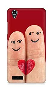 Amez designer printed 3d premium high quality back case cover for Lenovo A3900 (Heart fingers cool)