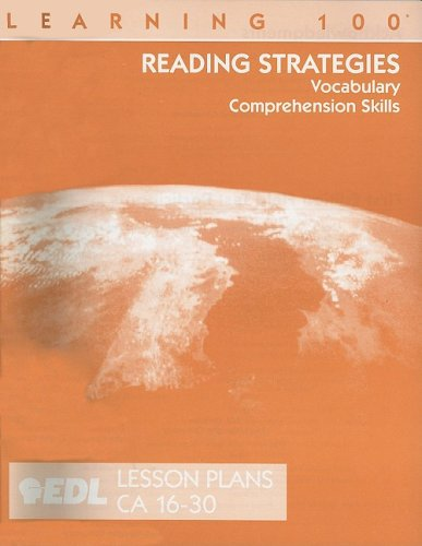 Reading Strategies Lesson Plans, CA 16-30: Vocabulary, Comprehension Skills (EDL Learning 100 Reading Strategies) (Ca Ged compare prices)