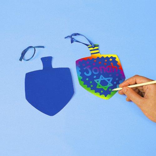 Magic Color Scratch Dreidels Kits (1 dz)