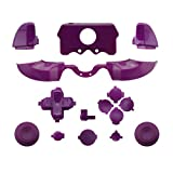 WPS Matte ABXY Dpad Triggers Full Buttons Set Mod Kits for Newest Xbox One Controller (3.5mm Port) with Screwdriver (Torx T6 T8) Set (purple) (Color: purple)