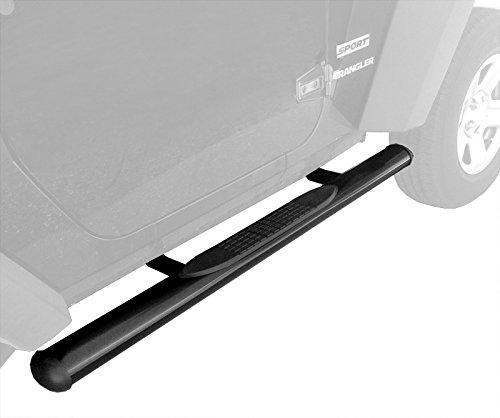 "Premium Custom Fit 2007-2015 Jeep Wrangler 2 Door 4"" Oval Side Armor Step Nerf Bars Black Running Boards"