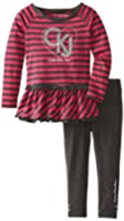 Calvin Klein Little Girls' Logo Stripe Tunic Set